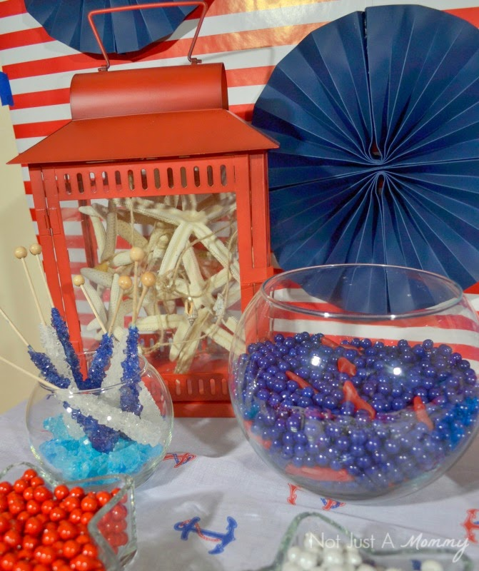 How to create a nautical patriotic table lanterns