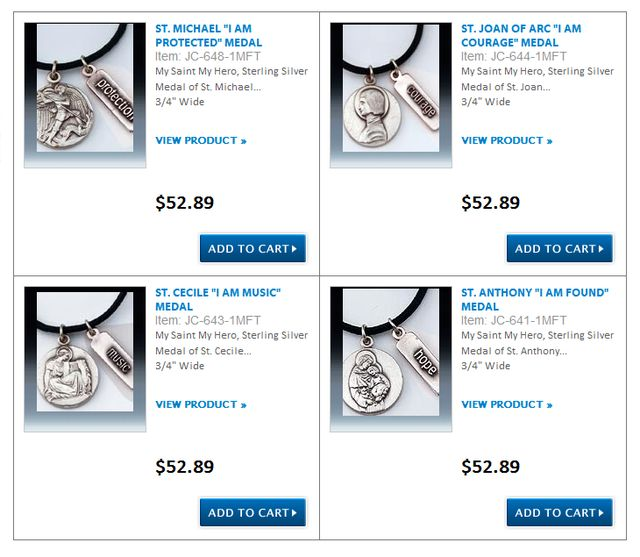 Catholic Religious Medals from DiscountCatholicProducts.com