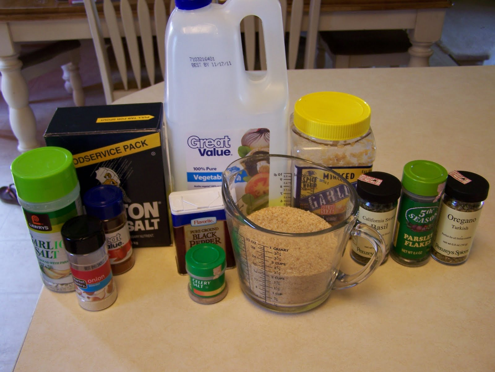 Homemade Shake & Bake Mixture