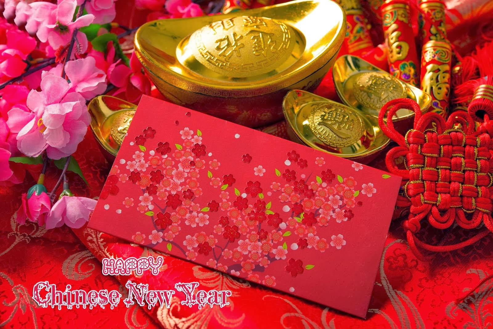 Happy New Year 2014 Wishes Wallpaper With Lunar Greeting Cards