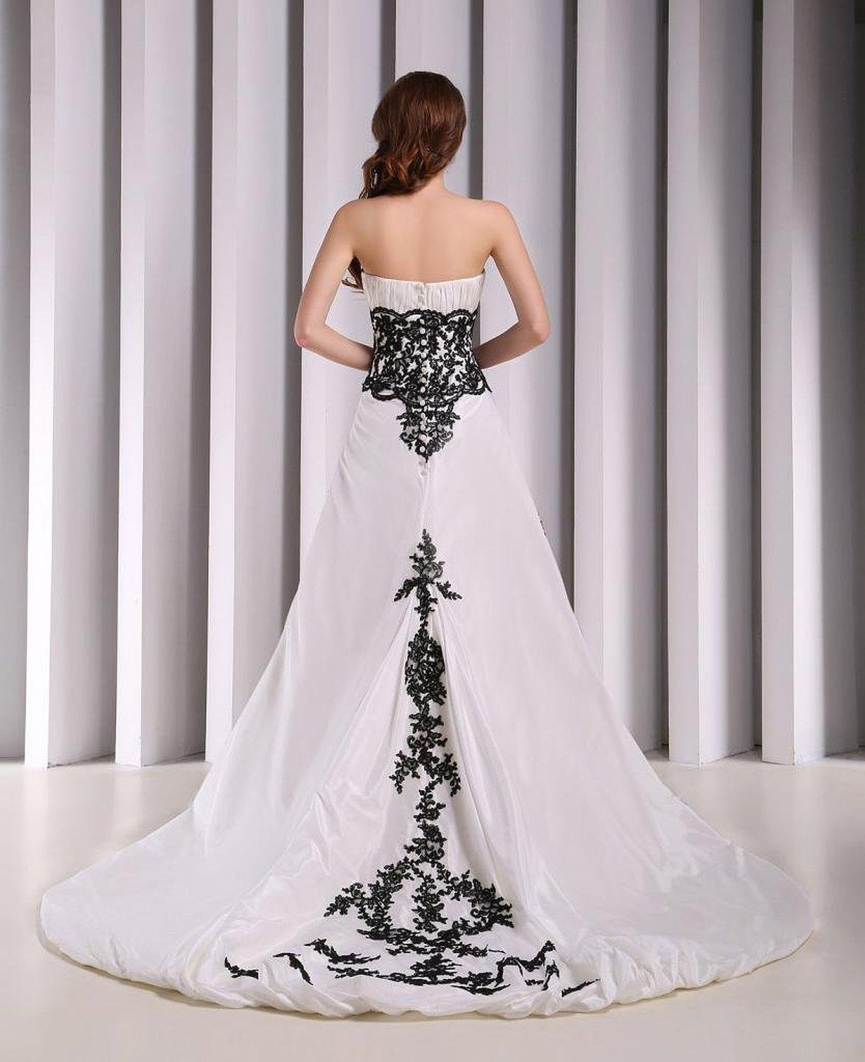 Black And White Princess Wedding Dresses Viewing Gallery