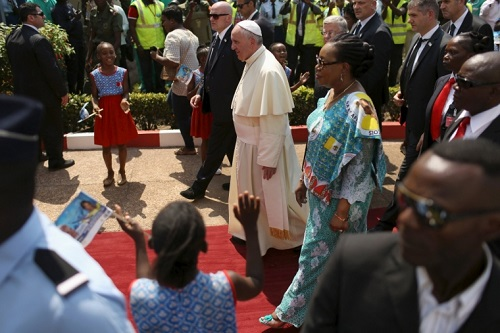 Christians & Muslims Welcome Pope Francis To Central African Republic