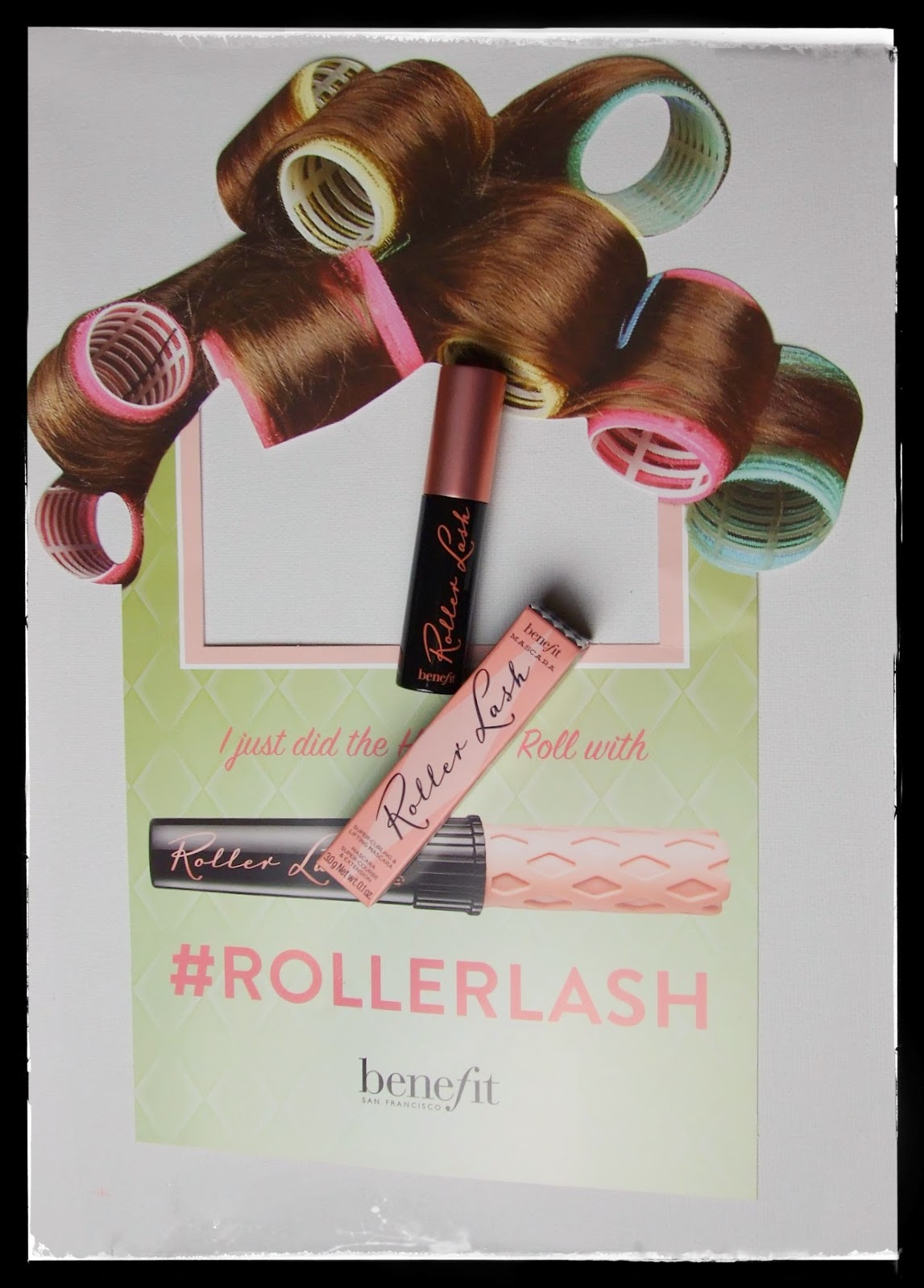 UK elle magazine benefit's roller lash mascara new #rollerlash
