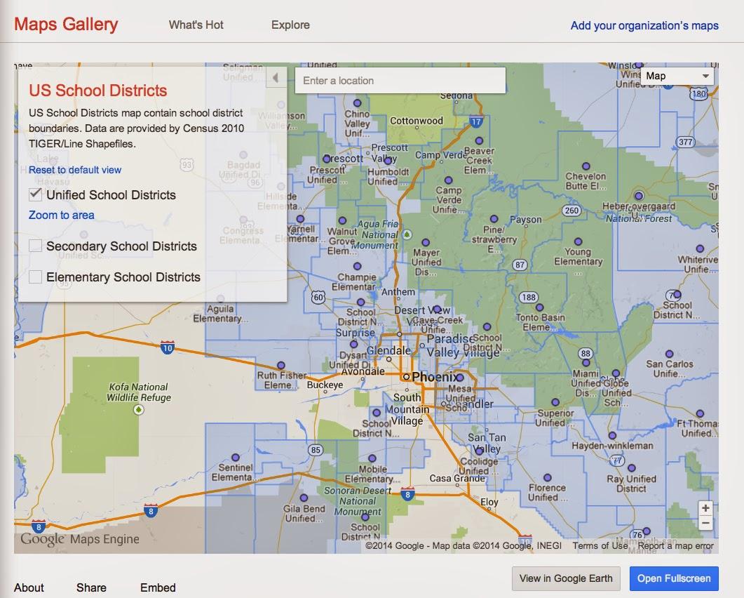 Genealogys Star Explore New Territory In The Google Maps Gallery - Google maps arizona