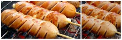 resep sosis bakar saus pedas manis tabur keju county of food