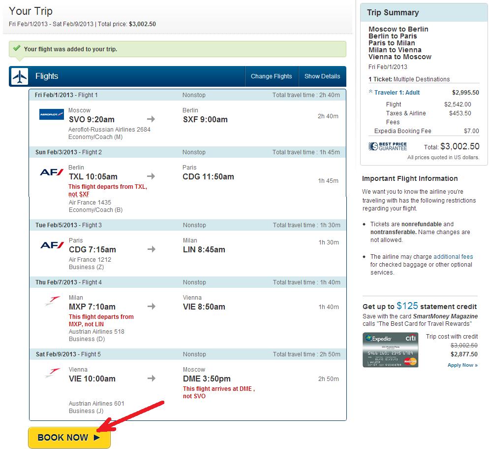 Авиабилеты, цены и расписание самолетов Стоимость