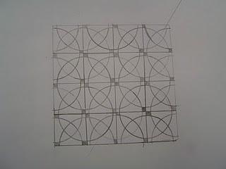 """geométrico sobre o quadradocom """"cheirinho"""" a Módulo/Padrão 5ºC"""