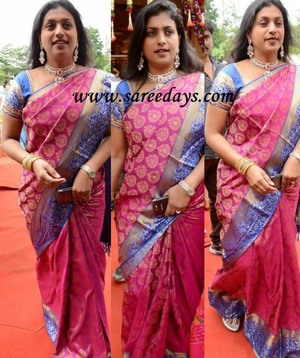 Latest saree designs roja in pink silk saree roja in pink silk saree altavistaventures Image collections