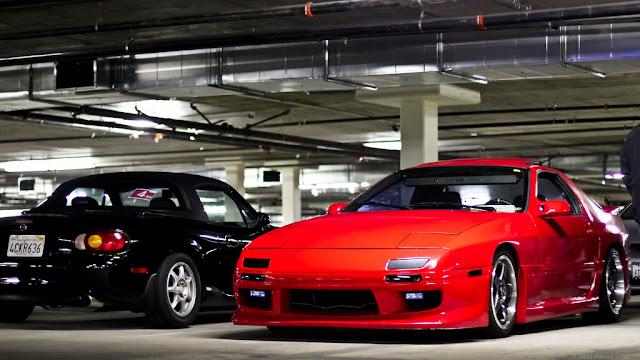 Mazda MX-5 (Miata) & Mazda RX-7 FC japoński sportowy samochód tuning wankel RWD coupe roadster