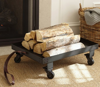 wheeled firewood cart