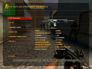 Point Blank K-2 Style for Galil in Counter Strike: Source VGUI