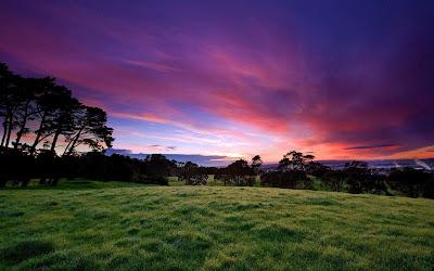 mountain sunset widescreen wallpaper