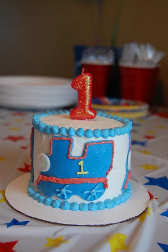 1st Birthday Cake Thomas The Train Smash Cake Jadore Gteau