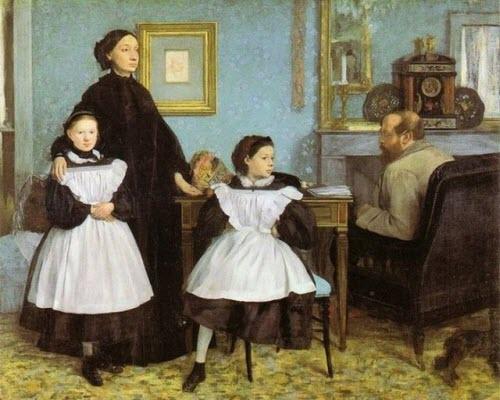 """Edgar Degas, """"The Bellelli Family,"""" 1858"""