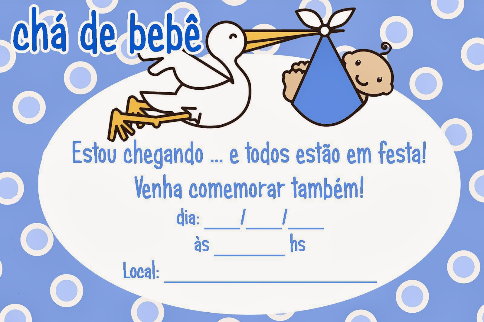 Convite para chá de bebê online 9