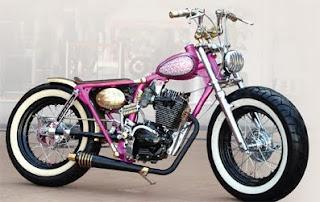 Foto Modif CB 100 aneka macam gaya Pink
