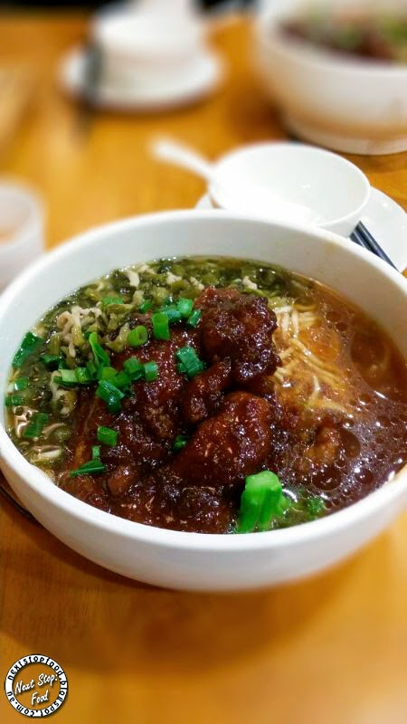 Next Stop: Food - Like Noodle  Pork Chop and Shanghai (Preserved) Cabbage & Shredded Pork Noodle Soup