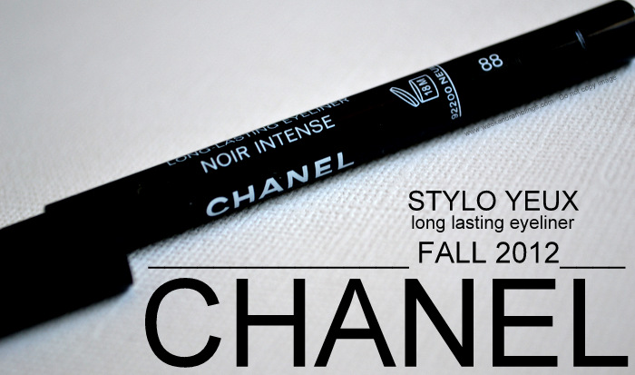 Les Essentiels de Chanel Style Yeux Long Lasting Black Eyeliner Noir Intense Makeup Fall 2012 Collection Beauty Blog Swatches Review EOTD FOTD Looks Dupes