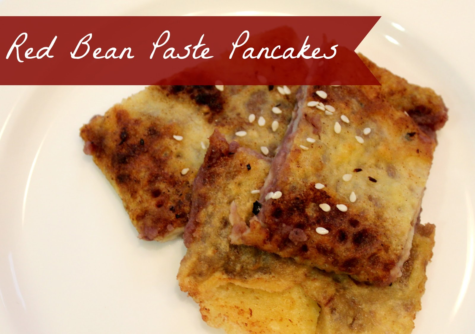 Marie's Pastiche: Recipe: Red Bean Paste Pancakes