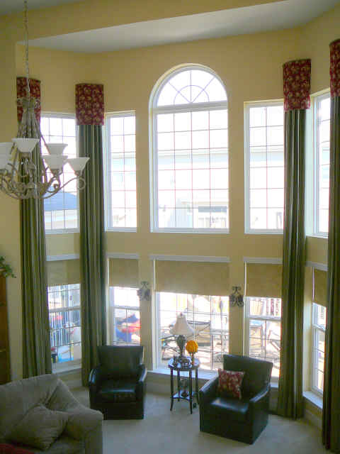 Large Home Window Treatments Large Sized Windows
