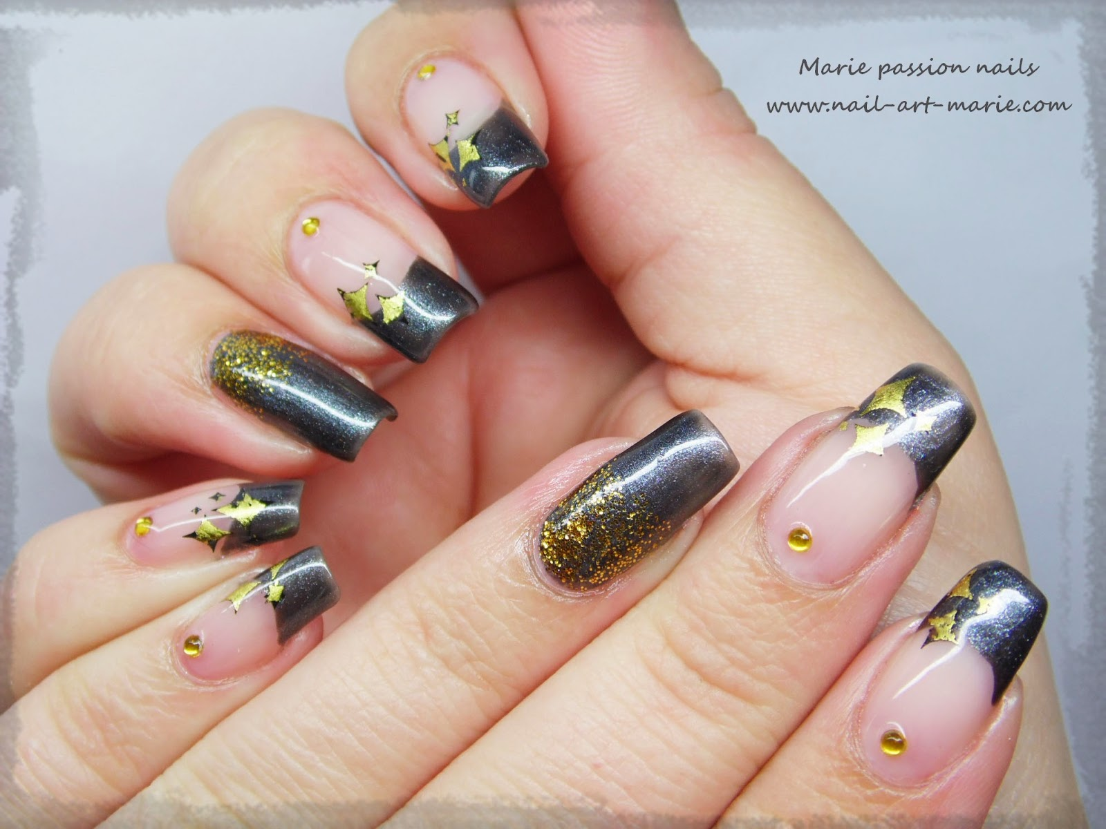 nail art stamping au foil1