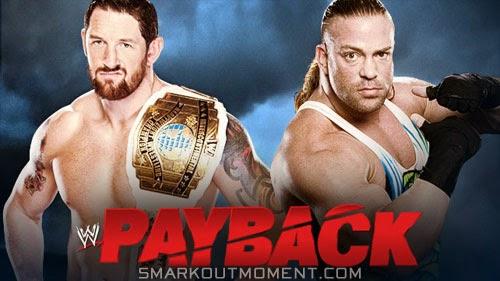 WWE Payback IC Title Match Results Barrett vs RVD