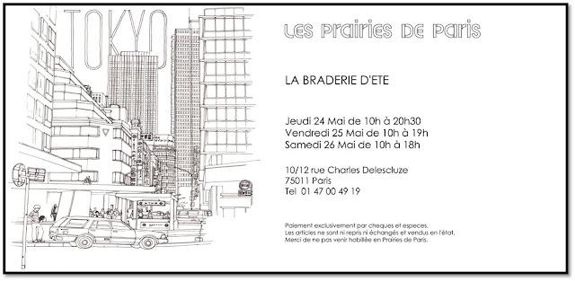 Ventes privées invitation Prairies de Paris Braderie d'été