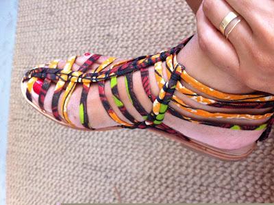 K Star African print sandals