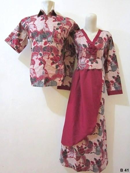 50 Gambar Model Baju Batik Gamis Kombinasi Terbaru