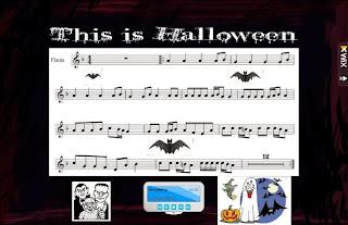 partitura flauta this is halloween