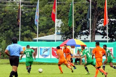 9th SSB Inter Frontier Football Championship kick start at Teesta Stadium Ranidanga