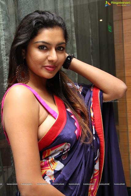Akshata in lovely Saree and Choli HQ Pics