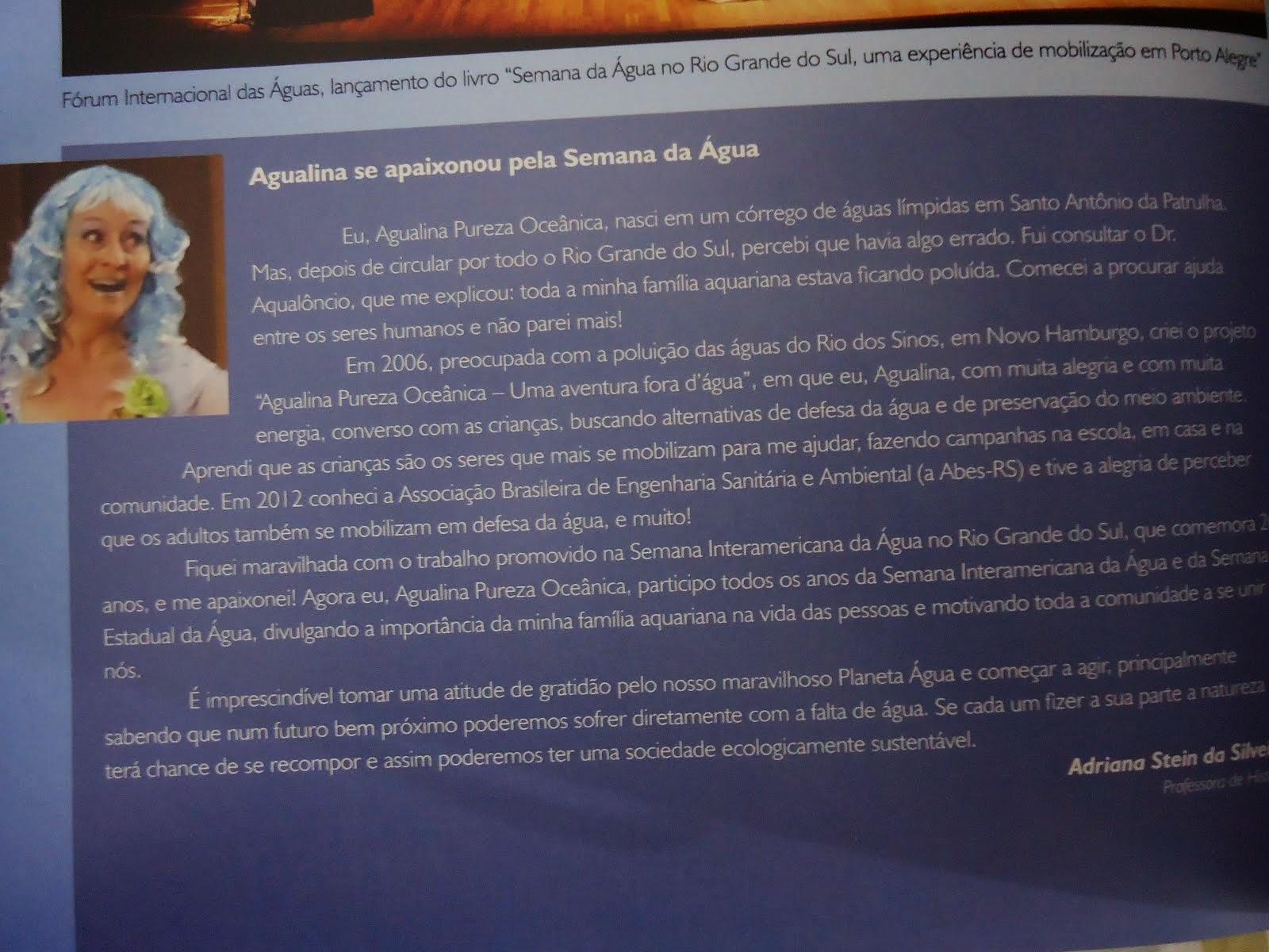 Depoimento da Agualina em livro da ABES RS: