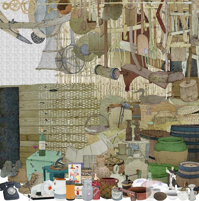 madera, fibras, barro, cultura material, dibujo, museo ,etnologia