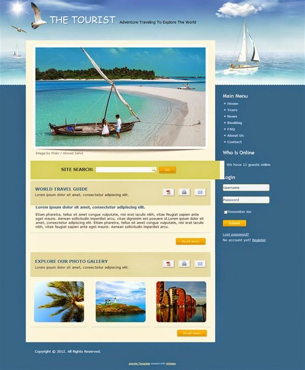The Tourist - Free Joomla! Template
