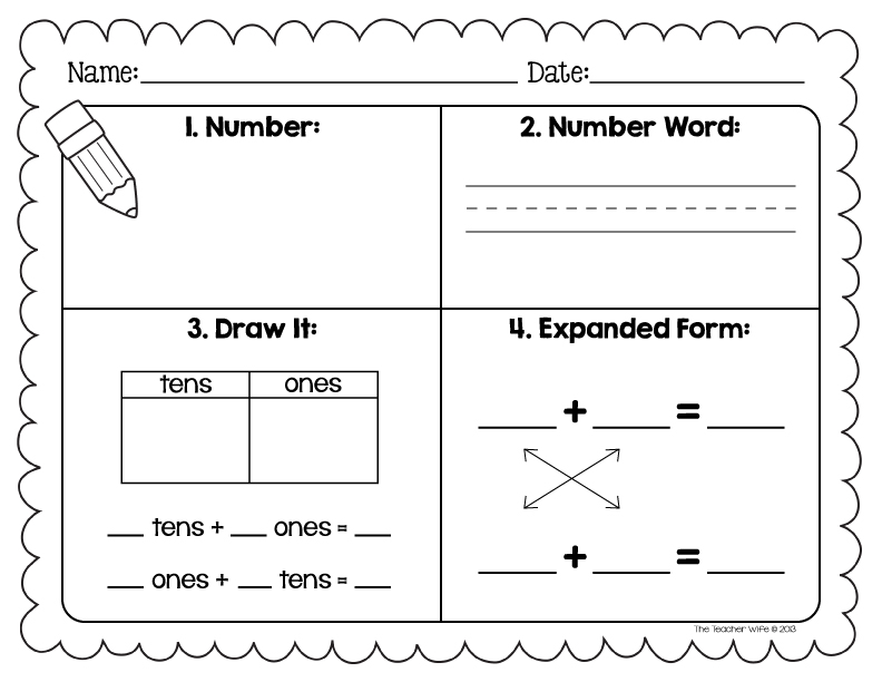 {the teacher wife number sense worksheet – Number Sense Worksheets