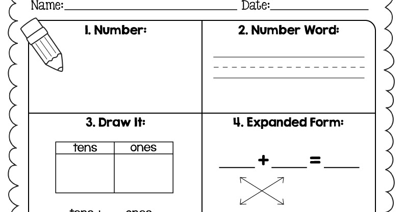 the teacher wife number sense worksheet – Dancing Raisins Worksheet