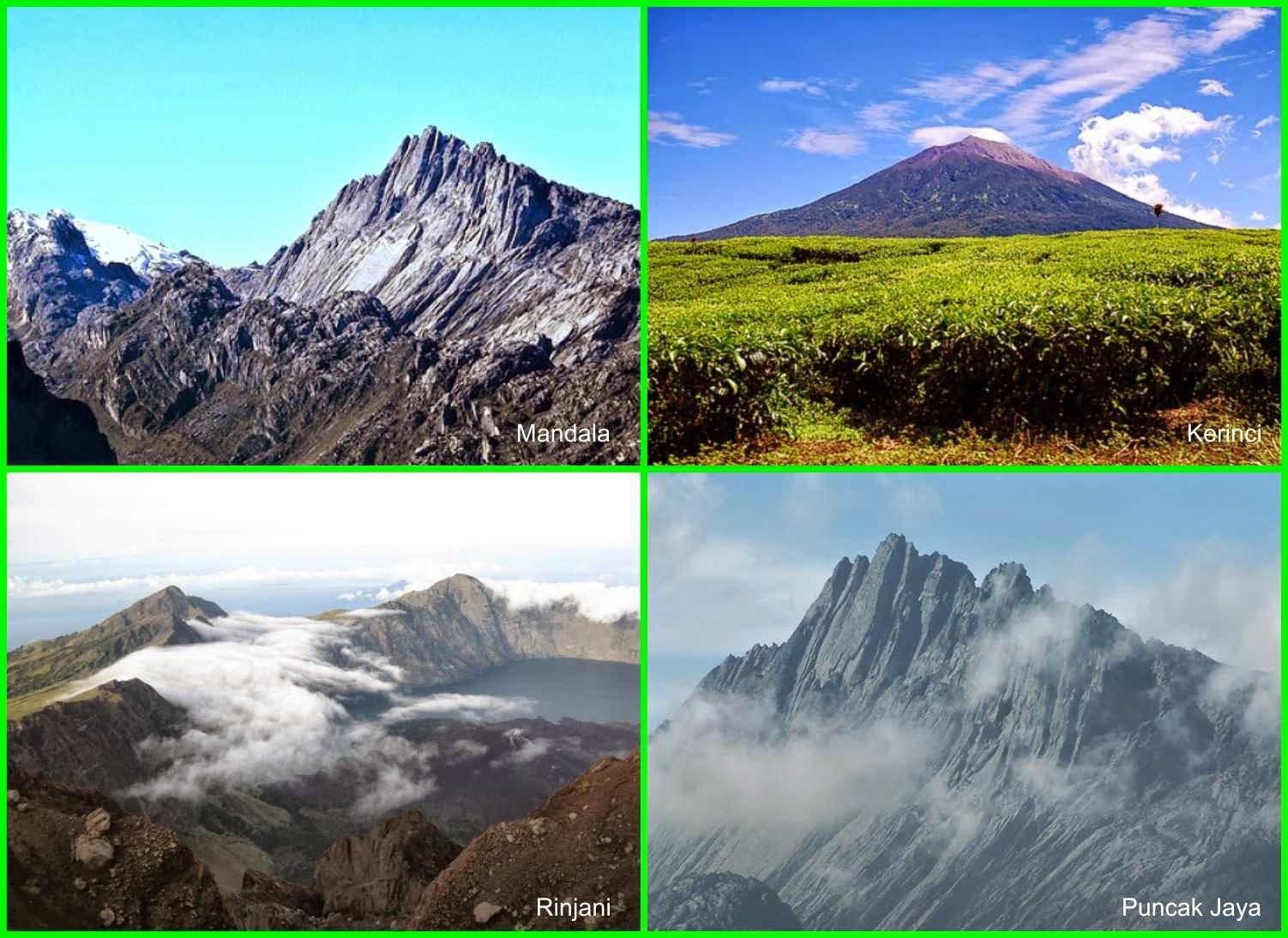 Negeri terkaya di Dunia,gunung di Indonesia,gunung terindah,