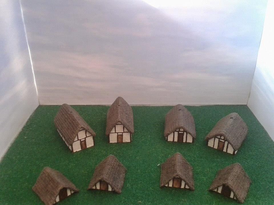 10mm Roman/Sub Roman/Saxon/Viking building to create a small village