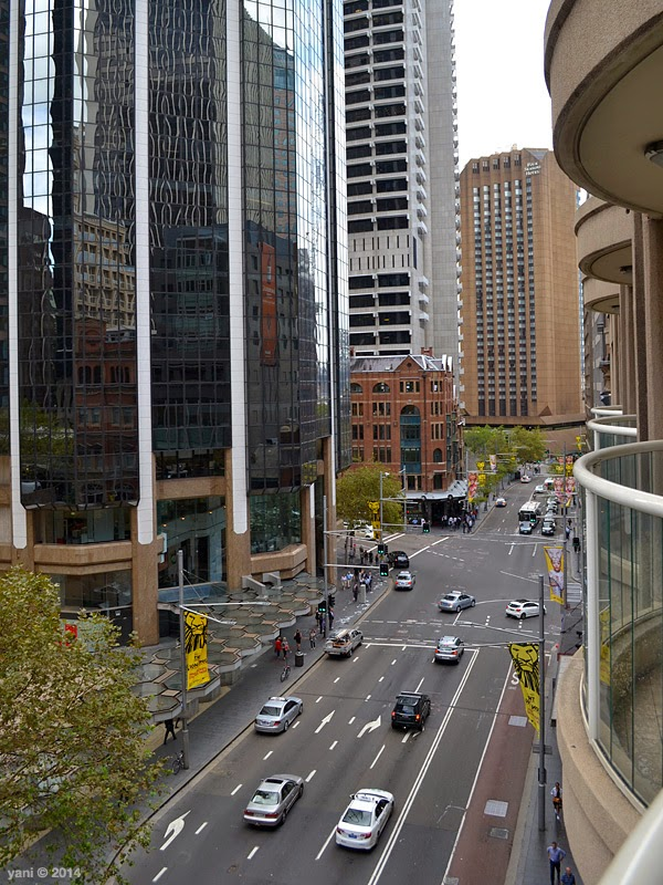 the view of george street from my balcony