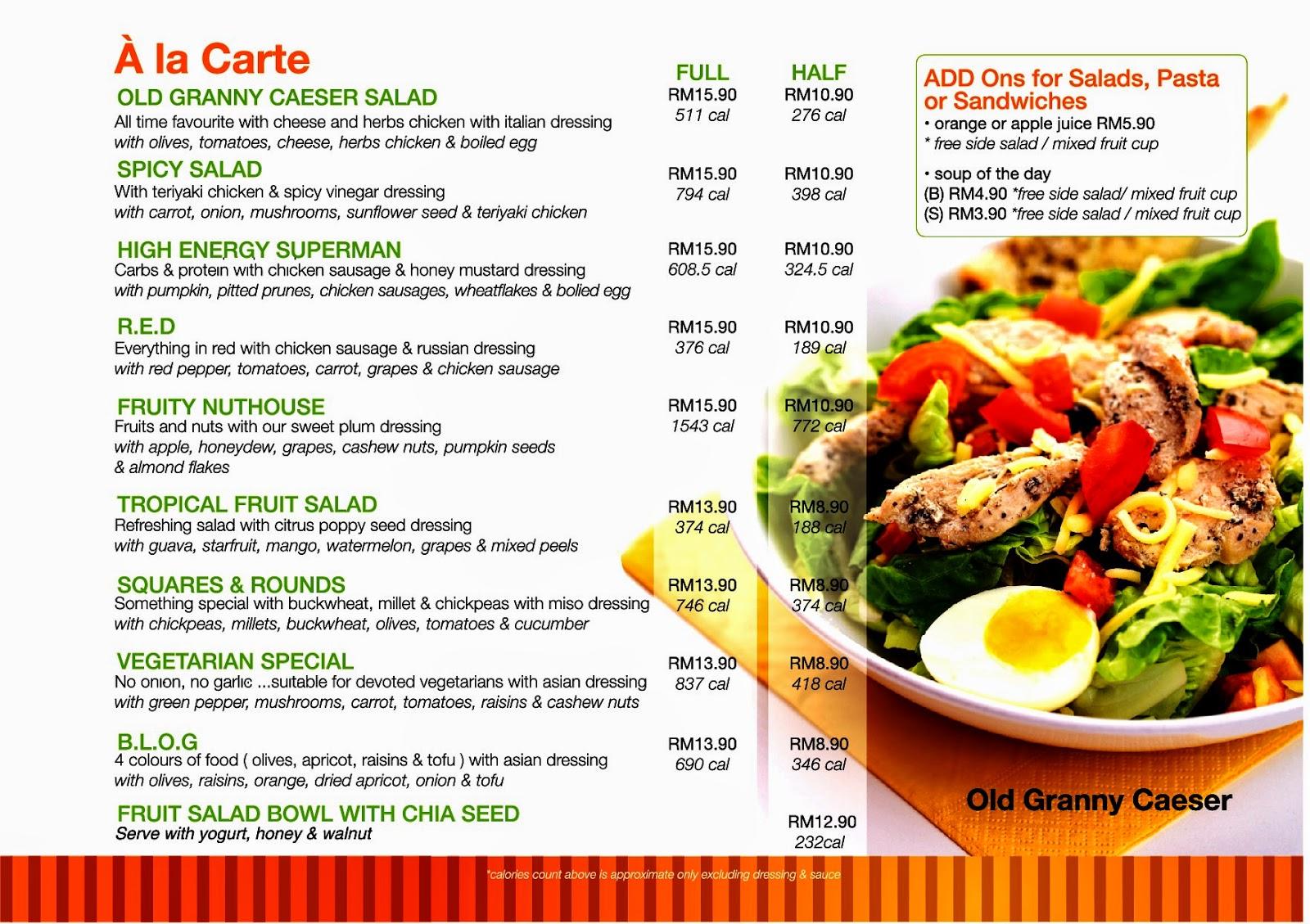 Follow me to eat la malaysian food blog the salad bar for Bar food la menu