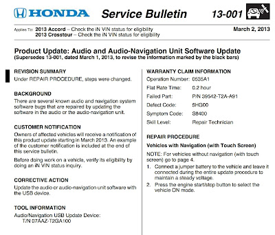 Totally random beer coffee cycling technology for Honda service bulletin