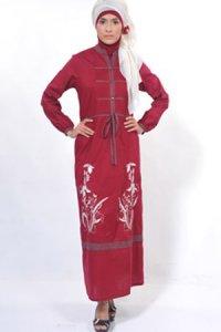 Manet Gamis 3230 - Marun (Toko Jilbab dan Busana Muslimah Terbaru)
