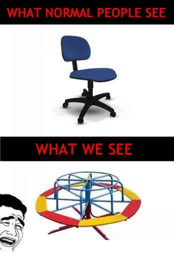 Office Chair - What Normal People See vs. What We See