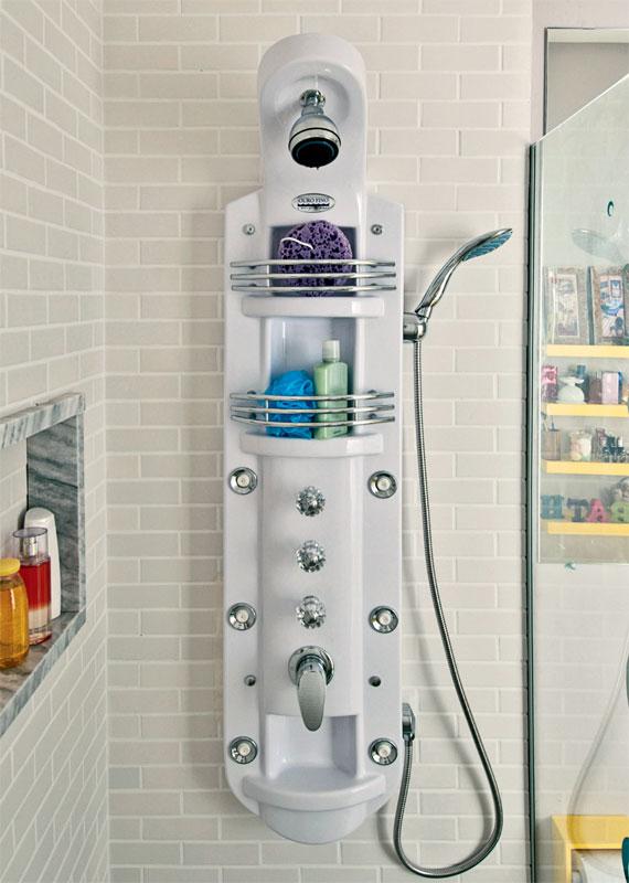 imagine fazer assim Hidro vertical -> Banheiro Pequeno Com Hidro E Chuveiro