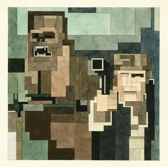 Adam Lister, acuarelas 8 bits, Star Wars