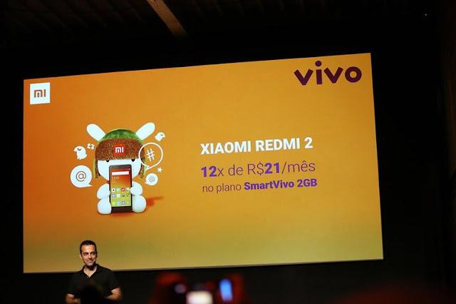Preço Xiaomi Redmi 2 na Vivo - Loja Fisica Xiaomi