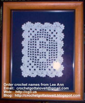 Crochet...Gotta Love It! Blog: Hand-Crochet Names for Sale ...