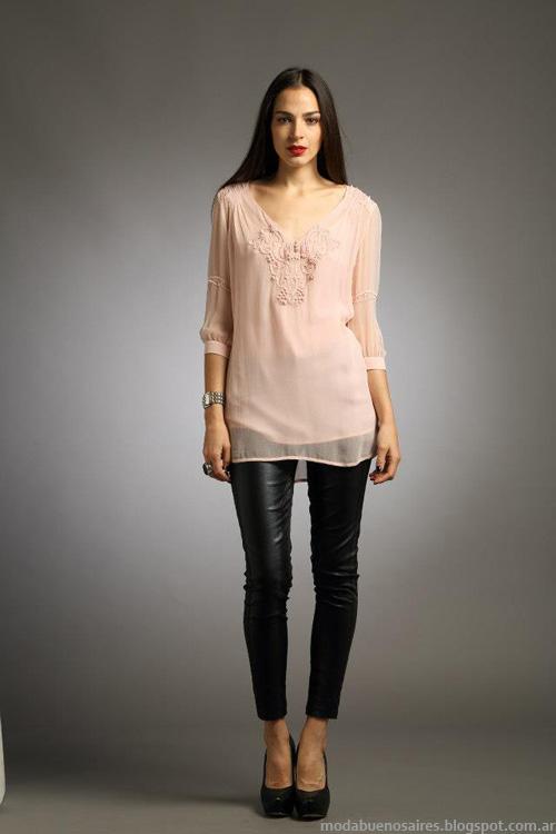 Sathya invierno 2013 moda mujer blusas.