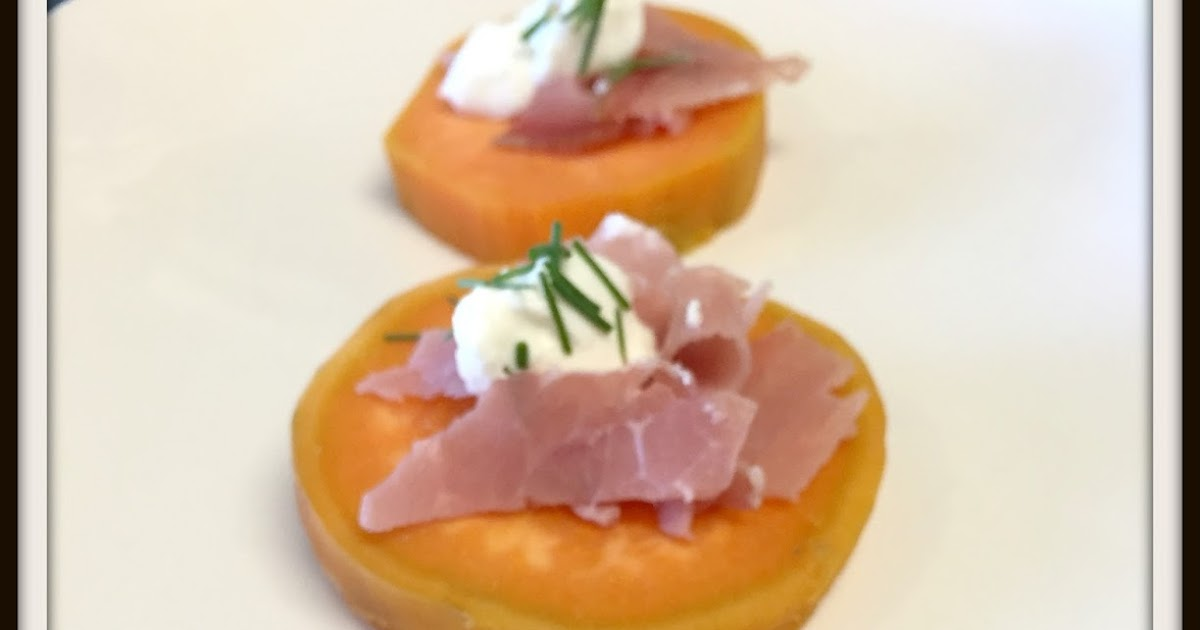 Cookaholic wife src sweet potato canapes for Sweet canape ideas